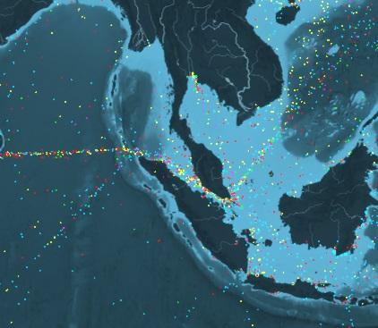 全球船运数据可视化将会是怎样的效果?