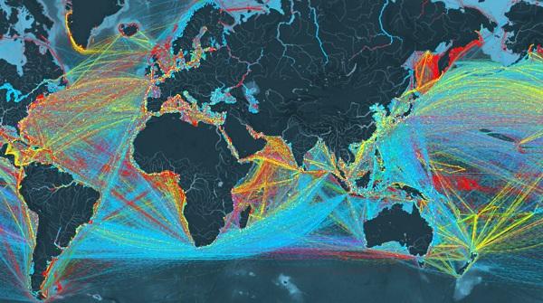 全球船运数据可视化将会是怎样的效果