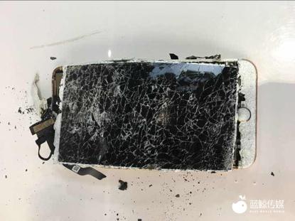 曝 iPhone 7P 再爆炸,黑烟冒出手机炸裂