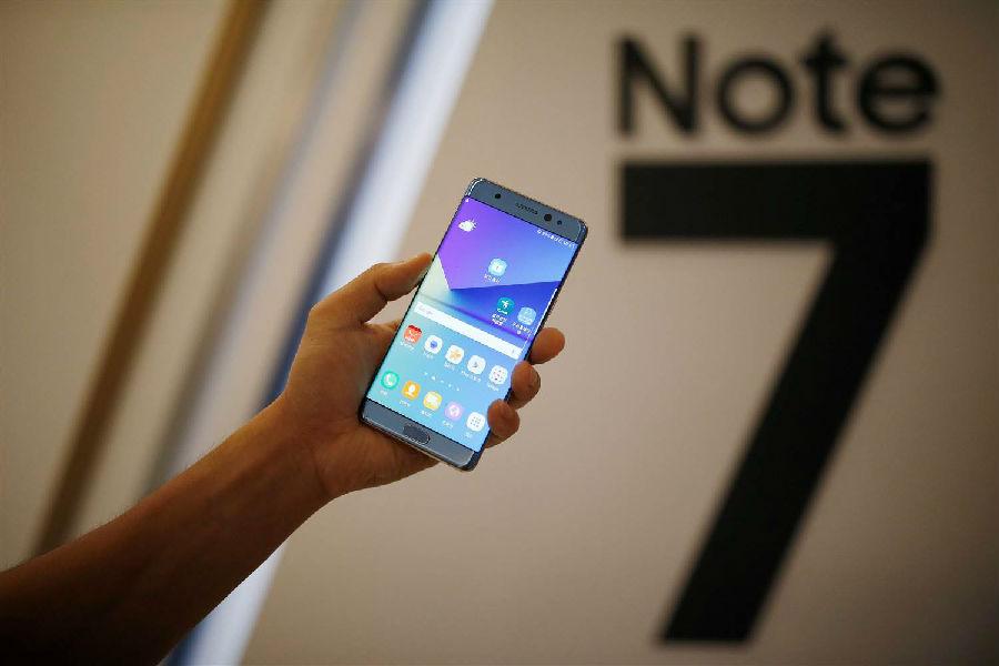 三星 Note7 手机美国召回 85% ,其余采取升级限电强制叫停