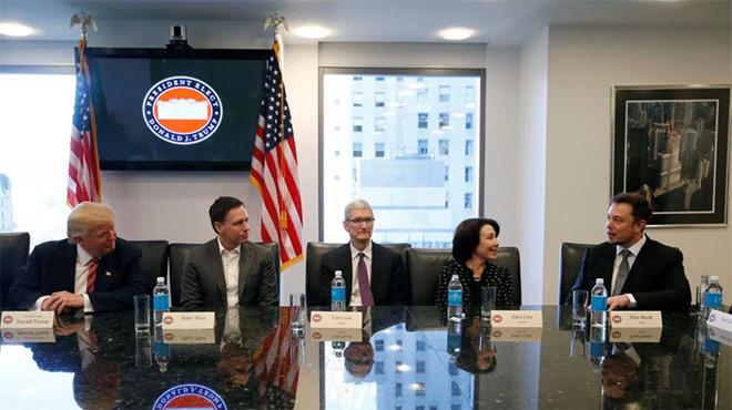 库克:参与特朗普科技峰会是为了创造更多价值