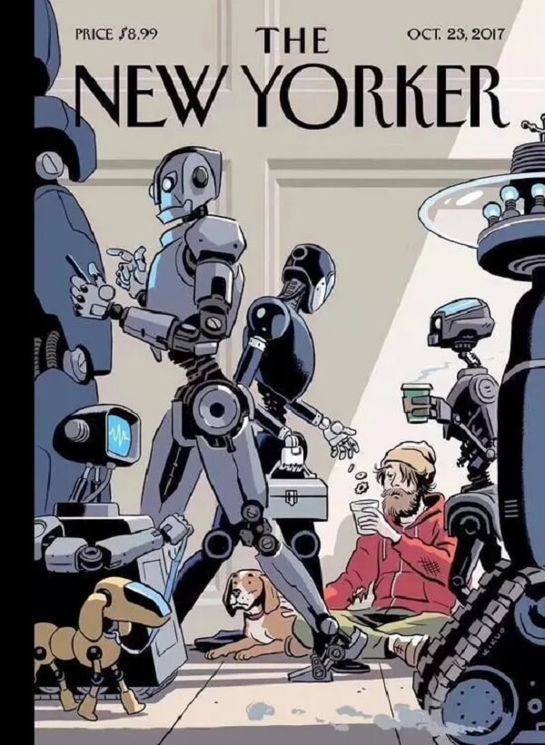未来人类会向机器人行乞?