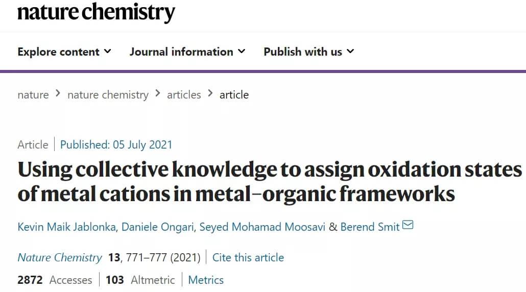 元素周期表应加上氧化态?机器学习破解晶体结构的氧化态